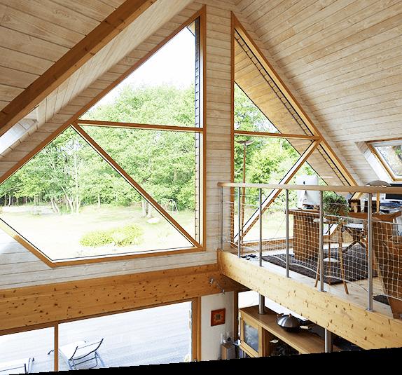 Fenêtres en bois-aluminium sur-mesure